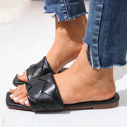 Fashion Square Weave Flat Sandals Slippers - Shop Shiningbabe - Womens Fashion Online Shopping Offering Huge Discounts on Shoes - Heels, Sandals, Boots, Slippers; Clothing - Tops, Dresses, Jumpsuits, and More.