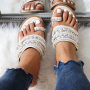 Fashion Beach Beaded Chain Toe Flat Sandal Slippers - Shop Shiningbabe - Womens Fashion Online Shopping Offering Huge Discounts on Shoes - Heels, Sandals, Boots, Slippers; Clothing - Tops, Dresses, Jumpsuits, and More.