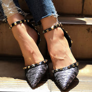 Party Shallow Pointed Pierced Rivet Sandals - Shop Shiningbabe - Womens Fashion Online Shopping Offering Huge Discounts on Shoes - Heels, Sandals, Boots, Slippers; Clothing - Tops, Dresses, Jumpsuits, and More.
