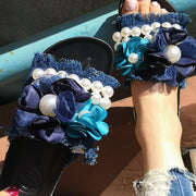 Pearl Flower Casual Flat Slippers - Shop Shiningbabe - Womens Fashion Online Shopping Offering Huge Discounts on Shoes - Heels, Sandals, Boots, Slippers; Clothing - Tops, Dresses, Jumpsuits, and More.