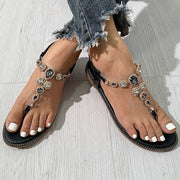 Fashion Gem Decoration Flat Flip Flops Sandals - Shop Shiningbabe - Womens Fashion Online Shopping Offering Huge Discounts on Shoes - Heels, Sandals, Boots, Slippers; Clothing - Tops, Dresses, Jumpsuits, and More.