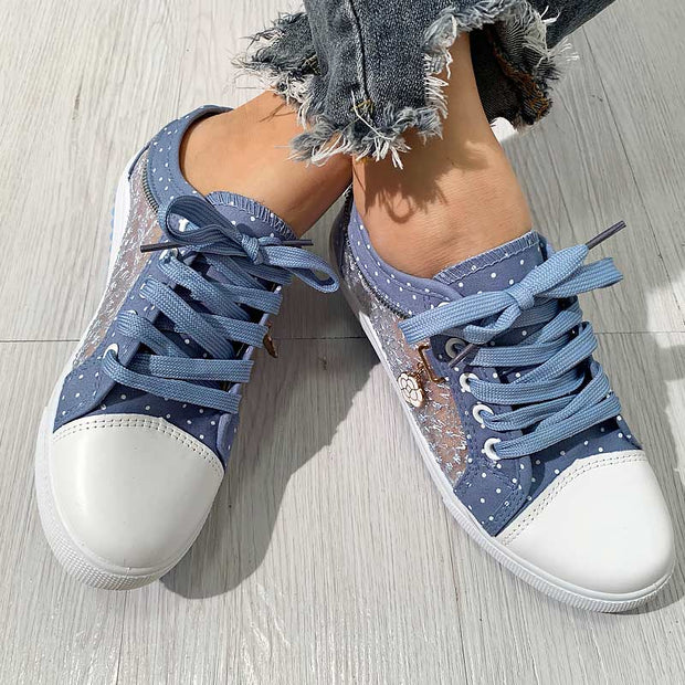 Fashion Pendant Lace Pattern Flat Sneakers - Shop Shiningbabe - Womens Fashion Online Shopping Offering Huge Discounts on Shoes - Heels, Sandals, Boots, Slippers; Clothing - Tops, Dresses, Jumpsuits, and More.