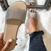 Fashion Rhinestone Flat Slippers Sandals - Shop Shiningbabe - Womens Fashion Online Shopping Offering Huge Discounts on Shoes - Heels, Sandals, Boots, Slippers; Clothing - Tops, Dresses, Jumpsuits, and More.