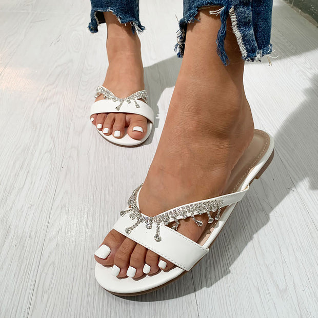 Handmade beaded flat sandals - Shop Shiningbabe - Womens Fashion Online Shopping Offering Huge Discounts on Shoes - Heels, Sandals, Boots, Slippers; Clothing - Tops, Dresses, Jumpsuits, and More.