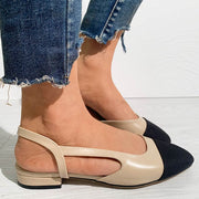 Colorblock Chunky Heels Sandals