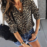 Long Sleeve Leopard Print Casual Shirt - Shop Shiningbabe - Womens Fashion Online Shopping Offering Huge Discounts on Shoes - Heels, Sandals, Boots, Slippers; Clothing - Tops, Dresses, Jumpsuits, and More.