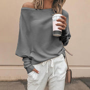 Solid Batwing Sleeve Casual Top - Shop Shiningbabe - Womens Fashion Online Shopping Offering Huge Discounts on Shoes - Heels, Sandals, Boots, Slippers; Clothing - Tops, Dresses, Jumpsuits, and More.
