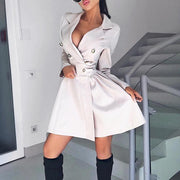 Long Sleeve Button Design Blazer Dress - Shop Shiningbabe - Womens Fashion Online Shopping Offering Huge Discounts on Shoes - Heels, Sandals, Boots, Slippers; Clothing - Tops, Dresses, Jumpsuits, and More.