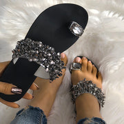 Womens Shiny Toe Ring Flat Sandals - Shop Shiningbabe - Womens Fashion Online Shopping Offering Huge Discounts on Shoes - Heels, Sandals, Boots, Slippers; Clothing - Tops, Dresses, Jumpsuits, and More.