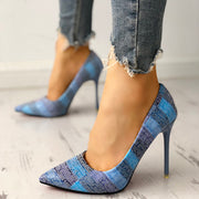 Contrast Color Pointed Toe Thin Heels - Shop Shiningbabe - Womens Fashion Online Shopping Offering Huge Discounts on Shoes - Heels, Sandals, Boots, Slippers; Clothing - Tops, Dresses, Jumpsuits, and More.