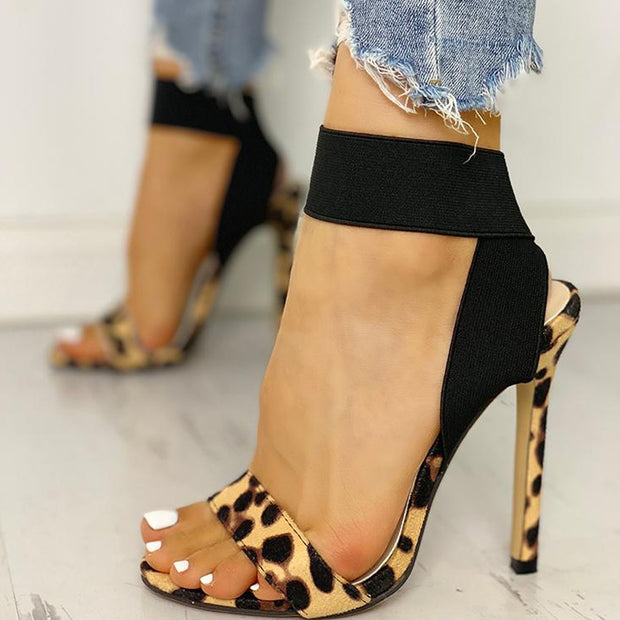Leopard Cross Strap High Heel Sandals - Shop Shiningbabe - Womens Fashion Online Shopping Offering Huge Discounts on Shoes - Heels, Sandals, Boots, Slippers; Clothing - Tops, Dresses, Jumpsuits, and More.