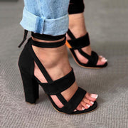 Cross Strap High Heel Sandals - Shop Shiningbabe - Womens Fashion Online Shopping Offering Huge Discounts on Shoes - Heels, Sandals, Boots, Slippers; Clothing - Tops, Dresses, Jumpsuits, and More.