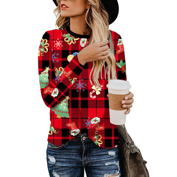 Casual Leopard Print Patchwork Long Sleeve Blouse