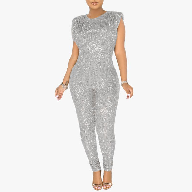 Sequins Sleeveless Sexy Jumpsuit