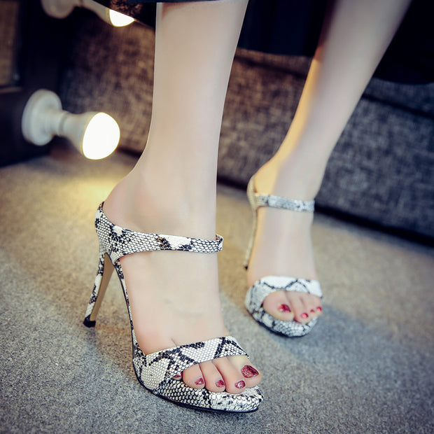 Fashion Snake High Heel Sandals - Shop Shiningbabe - Womens Fashion Online Shopping Offering Huge Discounts on Shoes - Heels, Sandals, Boots, Slippers; Clothing - Tops, Dresses, Jumpsuits, and More.