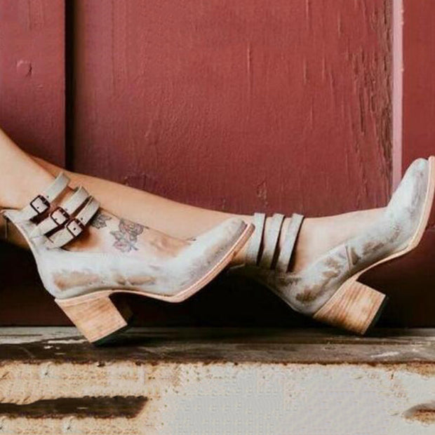 Gladiator Leather Chunky Sandals - Shop Shiningbabe - Womens Fashion Online Shopping Offering Huge Discounts on Shoes - Heels, Sandals, Boots, Slippers; Clothing - Tops, Dresses, Jumpsuits, and More.