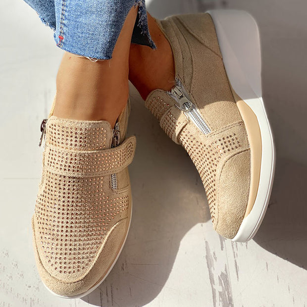 Knitted Breathable Casual Muffin Sneakers - Shop Shiningbabe - Womens Fashion Online Shopping Offering Huge Discounts on Shoes - Heels, Sandals, Boots, Slippers; Clothing - Tops, Dresses, Jumpsuits, and More.