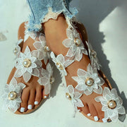 Toe Ring Flower Design Flat Sandals - Shop Shiningbabe - Womens Fashion Online Shopping Offering Huge Discounts on Shoes - Heels, Sandals, Boots, Slippers; Clothing - Tops, Dresses, Jumpsuits, and More.