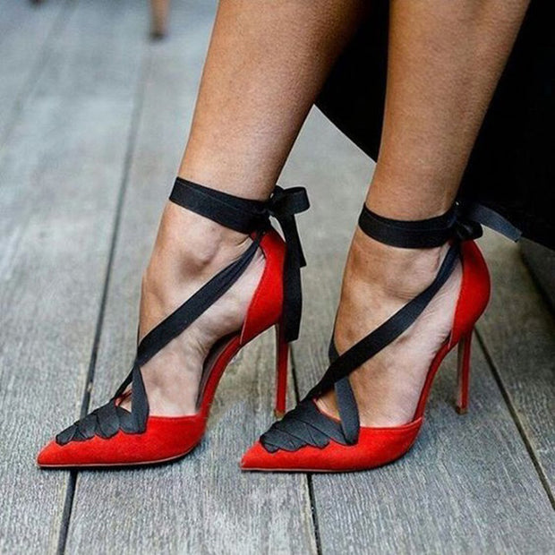Sexy Cross Straps With Color Matching High Heel Sandals - Shop Shiningbabe - Womens Fashion Online Shopping Offering Huge Discounts on Shoes - Heels, Sandals, Boots, Slippers; Clothing - Tops, Dresses, Jumpsuits, and More.