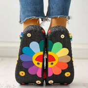 Colorful Sunflower Pattern Casual Sandals - Shop Shiningbabe - Womens Fashion Online Shopping Offering Huge Discounts on Shoes - Heels, Sandals, Boots, Slippers; Clothing - Tops, Dresses, Jumpsuits, and More.