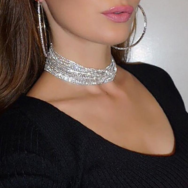 Oversized Shiny Delicate Hoop Earrings