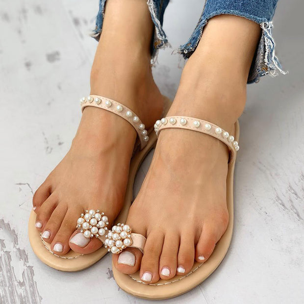 Toe Ring Beaded Casual Sandals - Shop Shiningbabe - Womens Fashion Online Shopping Offering Huge Discounts on Shoes - Heels, Sandals, Boots, Slippers; Clothing - Tops, Dresses, Jumpsuits, and More.