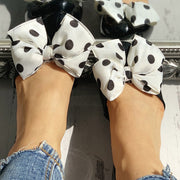 Dot Bowknot Embellished Casual Flat Shoes - Shop Shiningbabe - Womens Fashion Online Shopping Offering Huge Discounts on Shoes - Heels, Sandals, Boots, Slippers; Clothing - Tops, Dresses, Jumpsuits, and More.