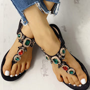 Rhinestone Bohemia Flat Sandals - Shop Shiningbabe - Womens Fashion Online Shopping Offering Huge Discounts on Shoes - Heels, Sandals, Boots, Slippers; Clothing - Tops, Dresses, Jumpsuits, and More.