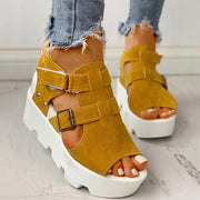 Cutout Velcro Platform Wedge Sandals - Shop Shiningbabe - Womens Fashion Online Shopping Offering Huge Discounts on Shoes - Heels, Sandals, Boots, Slippers; Clothing - Tops, Dresses, Jumpsuits, and More.