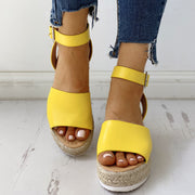 Peep Toe Slingback Espadrille Platform Sandals - Shop Shiningbabe - Womens Fashion Online Shopping Offering Huge Discounts on Shoes - Heels, Sandals, Boots, Slippers; Clothing - Tops, Dresses, Jumpsuits, and More.