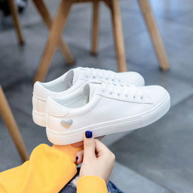 Women Canvas Casual Flats Heart Lace-up Fashion Sneakers - Shop Shiningbabe - Womens Fashion Online Shopping Offering Huge Discounts on Shoes - Heels, Sandals, Boots, Slippers; Clothing - Tops, Dresses, Jumpsuits, and More.