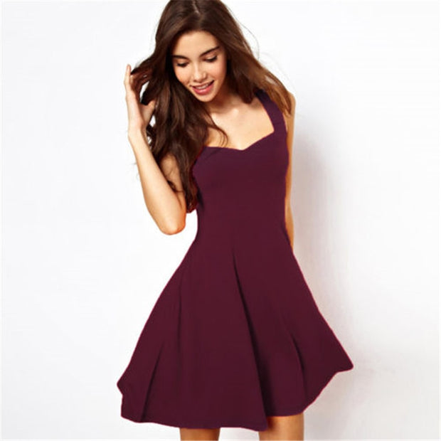 Casual Spaghetti Strap Mini Dress - Shop Shiningbabe - Womens Fashion Online Shopping Offering Huge Discounts on Shoes - Heels, Sandals, Boots, Slippers; Clothing - Tops, Dresses, Jumpsuits, and More.