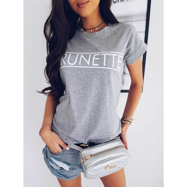 Fashion Casual Short Sleeve T-Shirt - Shop Shiningbabe - Womens Fashion Online Shopping Offering Huge Discounts on Shoes - Heels, Sandals, Boots, Slippers; Clothing - Tops, Dresses, Jumpsuits, and More.