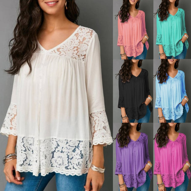Fashion Lace Sleeve Top - Shop Shiningbabe - Womens Fashion Online Shopping Offering Huge Discounts on Shoes - Heels, Sandals, Boots, Slippers; Clothing - Tops, Dresses, Jumpsuits, and More.