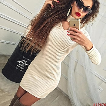 Long Sleeve Bodycon Casual Dress - Shop Shiningbabe - Womens Fashion Online Shopping Offering Huge Discounts on Shoes - Heels, Sandals, Boots, Slippers; Clothing - Tops, Dresses, Jumpsuits, and More.