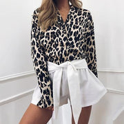 Leopard Color Block Casual Blouse - Shop Shiningbabe - Womens Fashion Online Shopping Offering Huge Discounts on Shoes - Heels, Sandals, Boots, Slippers; Clothing - Tops, Dresses, Jumpsuits, and More.