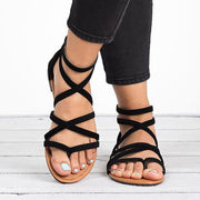 Gladiator Rome Style Cross Tied Sandals - Shop Shiningbabe - Womens Fashion Online Shopping Offering Huge Discounts on Shoes - Heels, Sandals, Boots, Slippers; Clothing - Tops, Dresses, Jumpsuits, and More.