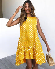 Women Ruffle Wave Point Dress - Shop Shiningbabe - Womens Fashion Online Shopping Offering Huge Discounts on Shoes - Heels, Sandals, Boots, Slippers; Clothing - Tops, Dresses, Jumpsuits, and More.