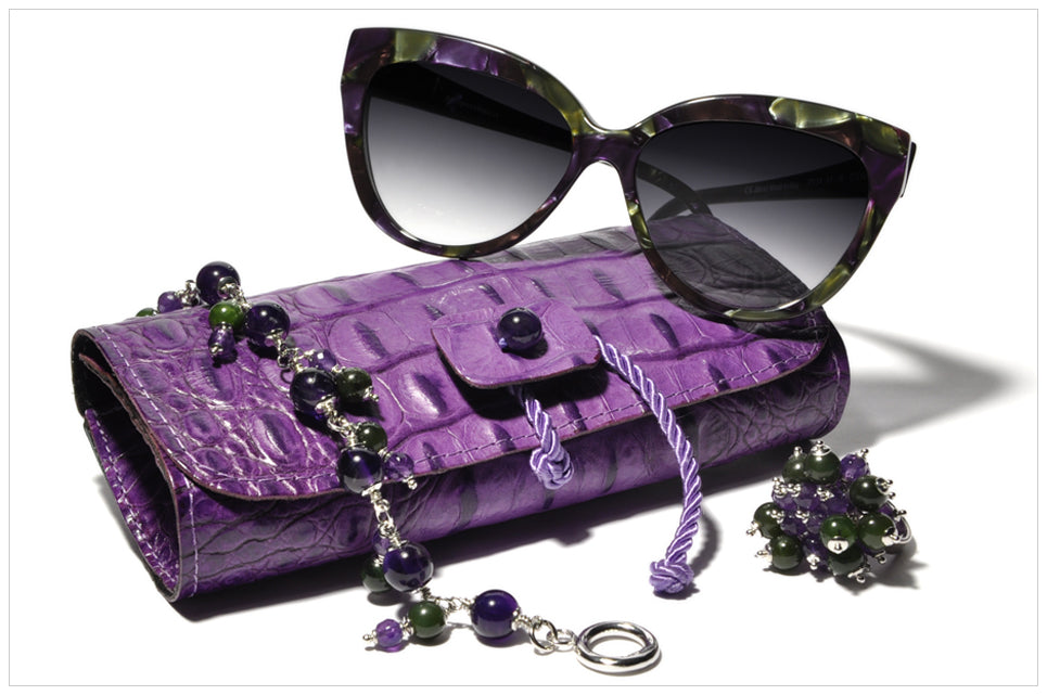 Compose BONNIEVALE. Sunglasses - Ring - Bracelet - Jewel Clutch. Front view