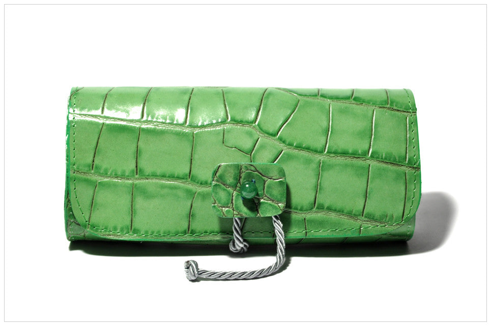 Jewel clutch. Pochette gioiello. Enthom - front view.