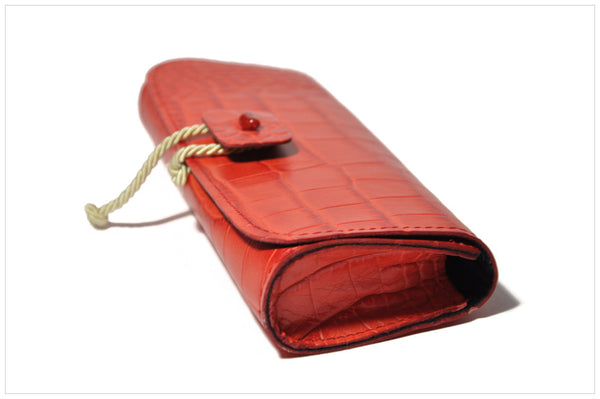 Jewel clutch / Pochette gioiello. Naris by Pollipò Italy - side angle view
