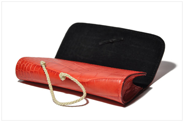 Jewel clutch / Pochette gioiello. Naris by Pollipò Italy - side angle view open