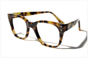 Handmade acetate glasses. Occhiali da vista artigianali. P566-228 side angle view.