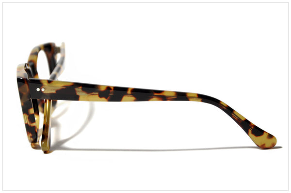 Handmade acetate glasses. Occhiali da vista artigianali. P566-228 side view.