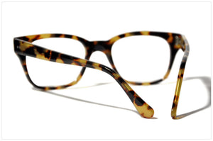 Handmade acetate glasses. Occhiali da vista artigianali. P566-228 back view.