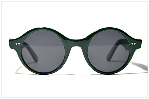 Occhiali tondi stile n. 615 California Green - Round sunglasses by Pollipò