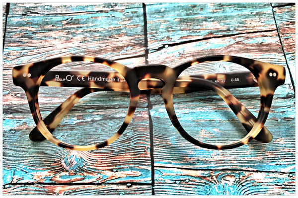 P616-5S - Panto eyeglasses handcrafted in Italy - front view