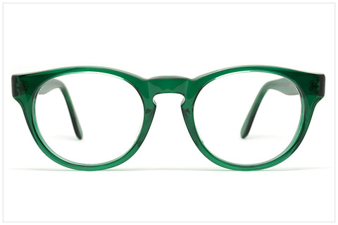 Occhiali in color verde handmade in Italy - Pollipò P620