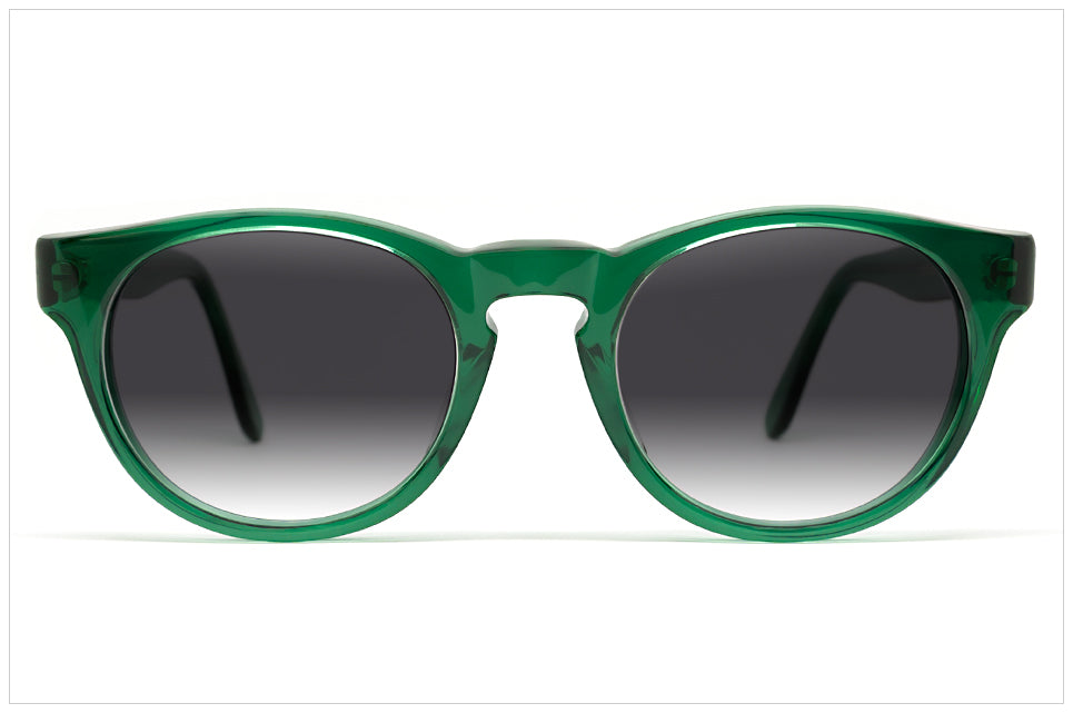 Occhiali da sole in acetato verde - Made in Italy Pollipò 620