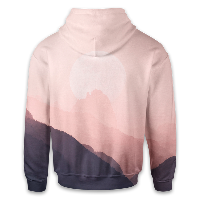 Pink Mountains Hoodie